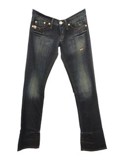 take two jeans femme de couleur bleu fonce