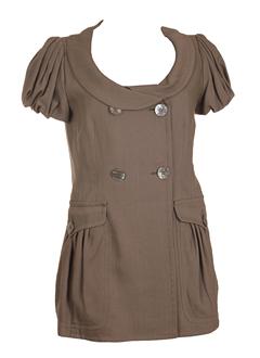 sportmax vestes femme de couleur taupe