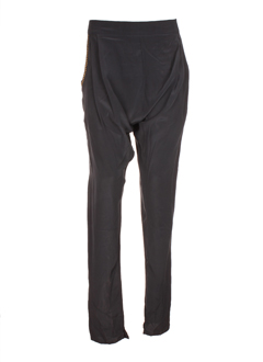 april first pantalons femme de couleur bleu fonce
