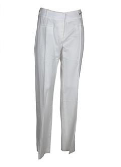 elo pantalons femme de couleur ecru