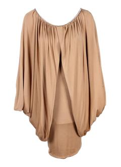 bain de nuit robes femme de couleur camel
