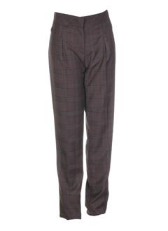 sinequanone pantalons femme de couleur taupe