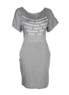 ikito robes femme de couleur gris