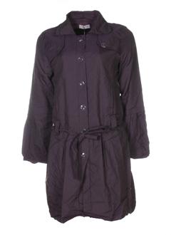 double jeu manteaux femme de couleur prune