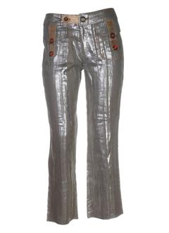 le gatte jeans pantalons femme de couleur or