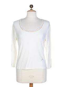 aqua t-shirts femme de couleur ecru