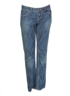 ddp jeans fille de couleur bleu fonce