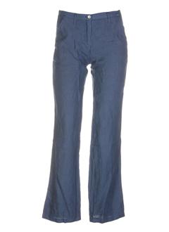 rivieres de lune pantalons femme de couleur bleu fonce