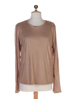 maxmara t-shirts femme de couleur camel