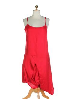 mer du nord robes femme de couleur rouge