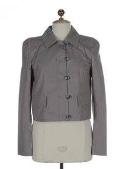 sportmax vestes femme de couleur gris perle