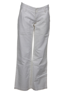 teddy smith pantalons fille de couleur blanc casse