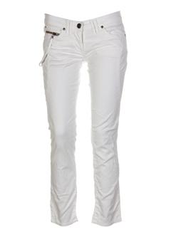 einstein pantalons femme de couleur blanc