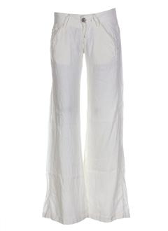 miss sixty pantalons femme de couleur ecru