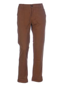 reiko pantalons femme de couleur camel
