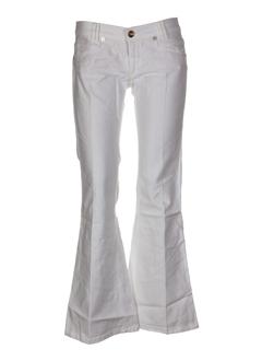 freeman t.porter jeans femme de couleur blanc
