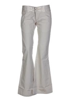 55 dsl pantalons femme de couleur beige