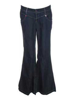 magilla pantalons fille de couleur bleu fonce