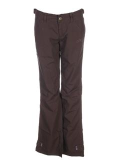 ddp pantalons fille de couleur chocolat