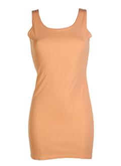 fifilles robes femme de couleur peche