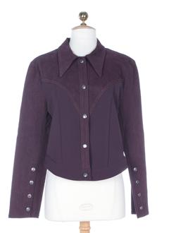 nathalie chaize vestes femme de couleur prune