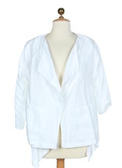 cannisse vestes femme de couleur blanc
