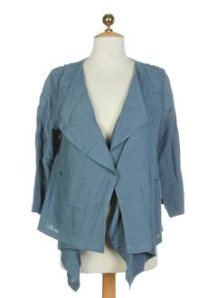cannisse vestes femme de couleur bleu