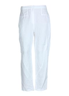 cannisse pantalons femme de couleur blanc