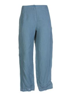 cannisse pantalons femme de couleur bleu