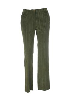 nominal pantalons femme de couleur vert