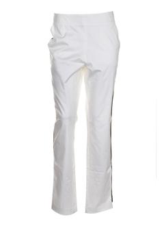 gene pantalons femme de couleur blanc