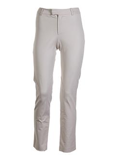 philippe adec pantalons femme de couleur beige