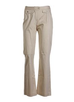 agatha pantalons femme de couleur beige