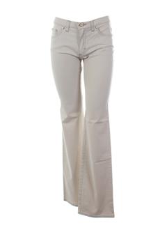 trussardi jeans pantalons femme de couleur beige