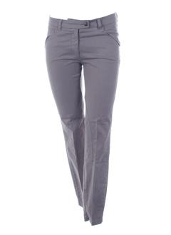 trussardi jeans pantalons femme de couleur taupe