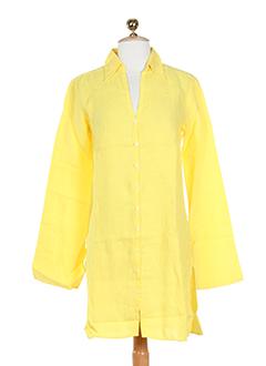0039 et italy tuniques femme de couleur jaune (photo)