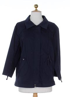 carole richard vestes femme de couleur bleu marine