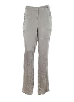 qubha pantalons femme de couleur gris perle