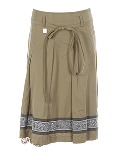 Jupe mi-longue beige AIRFIELD pour femme