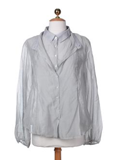 rodika chemises femme de couleur gris perle