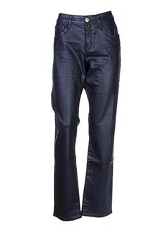 mexx pantalons femme de couleur bleu fonce