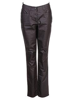 cecil pantalons femme de couleur marron fonce