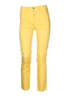 aqua pantalons femme de couleur jaune