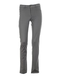 yaya pantalons femme de couleur gris clair