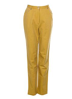 francois favel pantalons femme de couleur marron clair