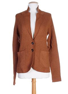 turnover vestes femme de couleur marron clair