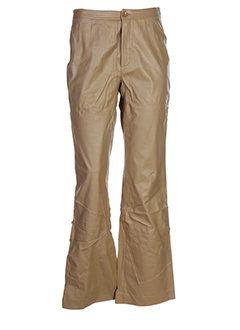 lecomte pantalons femme de couleur beige fonce