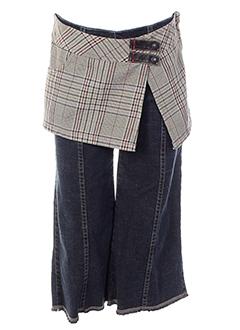 jean bourget pantalons fille de couleur bleu multicolore