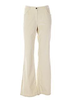 blus&blus pantalons femme de couleur ivoire
