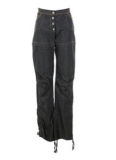 liliane h pantalons femme de couleur gris